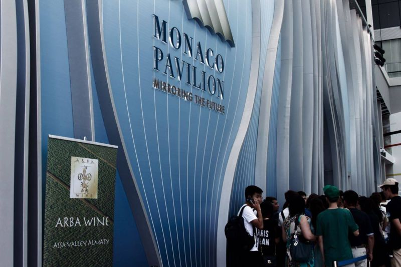 Дегустация вин Arba Wine  в павильоне Монако, на территории ЭКСПО